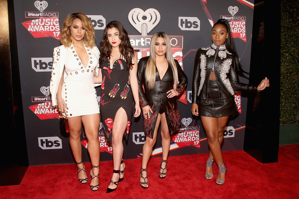 . INGLEWOOD, CA - MARCH 05:  (L-R) Singers Dinah Jane, Lauren Jauregui, Ally Brooke, and Normani Kordei of Fifth Harmony attend the 2017 iHeartRadio Music Awards which broadcast live on Turner\'s TBS, TNT, and truTV at The Forum on March 5, 2017 in Inglewood, California.  (Photo by Jesse Grant/Getty Images for iHeartMedia)