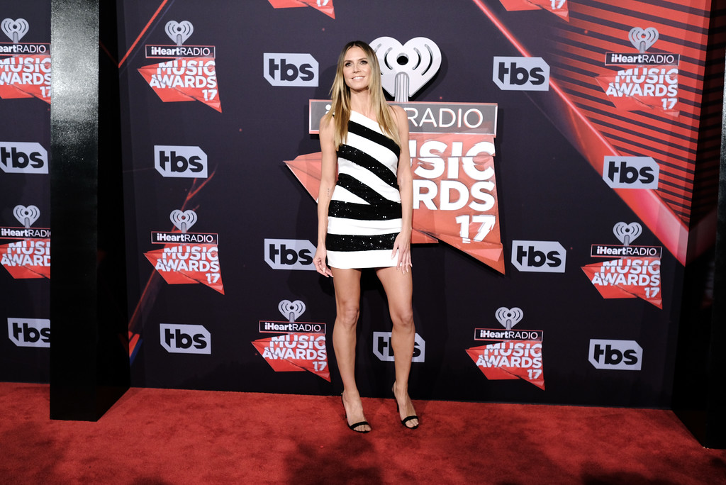 . INGLEWOOD, CA - MARCH 05:  Model-TV personality Heidi Klum attends the 2017 iHeartRadio Music Awards which broadcast live on Turner\'s TBS, TNT, and truTV at The Forum on March 5, 2017 in Inglewood, California.  (Photo by Alberto E. Rodriguez/Getty Images)