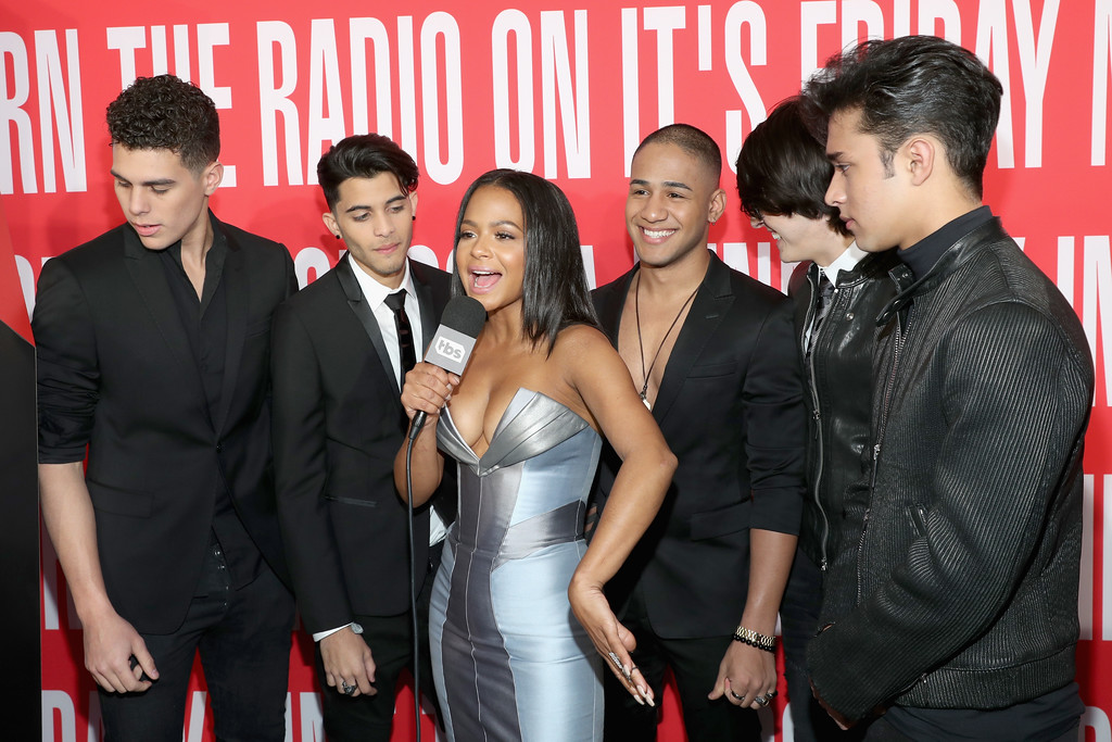 . INGLEWOOD, CA - MARCH 05:  Christina Milian (C) interviews the group CNCO as they attend the 2017 iHeartRadio Music Awards which broadcast live on Turner\'s TBS, TNT, and truTV at The Forum on March 5, 2017 in Inglewood, California.  (Photo by Jonathan Leibson/Getty Images for iHeartMedia)
