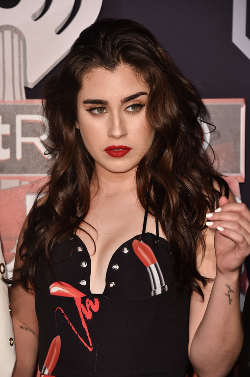 . INGLEWOOD, CA - MARCH 05:  Singer Lauren Jauregui of the group Fifth Harmony attends the 2017 iHeartRadio Music Awards which broadcast live on Turner\'s TBS, TNT, and truTV at The Forum on March 5, 2017 in Inglewood, California.  (Photo by Alberto E. Rodriguez/Getty Images)