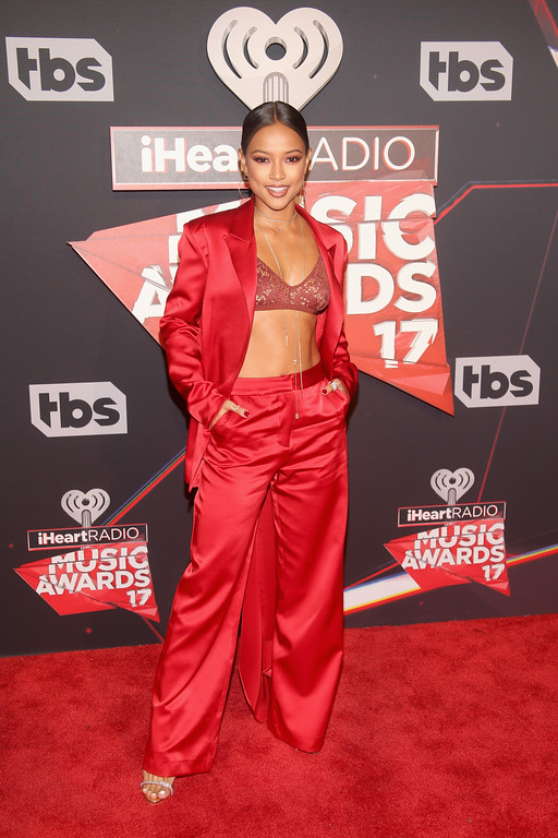 . INGLEWOOD, CA - MARCH 05:  Model Karrueche Tran attends the 2017 iHeartRadio Music Awards which broadcast live on Turner\'s TBS, TNT, and truTV at The Forum on March 5, 2017 in Inglewood, California.  (Photo by Jesse Grant/Getty Images for iHeartMedia)