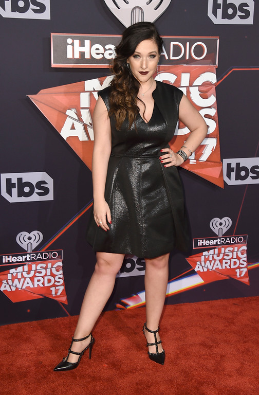 . Gianna Martello arrives at the iHeartRadio Music Awards at the Forum on Sunday, March 5, 2017, in Inglewood, Calif. (Photo by Jordan Strauss/Invision/AP)