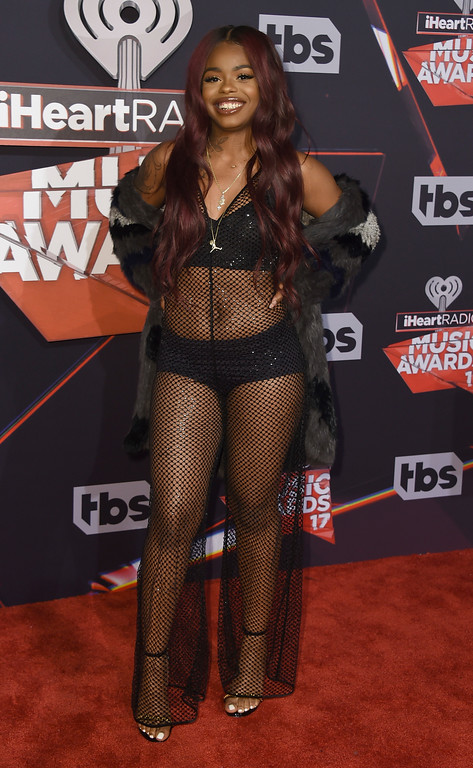 . Dreezy arrives at the iHeartRadio Music Awards at the Forum on Sunday, March 5, 2017, in Inglewood, Calif. (Photo by Jordan Strauss/Invision/AP)