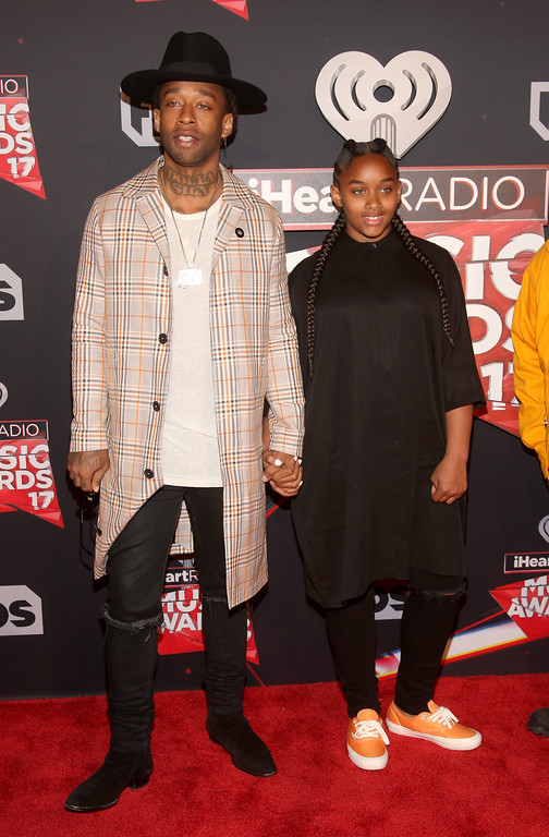 . INGLEWOOD, CA - MARCH 05:  Recording artist Ty Dolla Sign (L) and Jailynn Griffin attend the 2017 iHeartRadio Music Awards which broadcast live on Turner\'s TBS, TNT, and truTV at The Forum on March 5, 2017 in Inglewood, California.  (Photo by Jesse Grant/Getty Images for iHeartMedia)