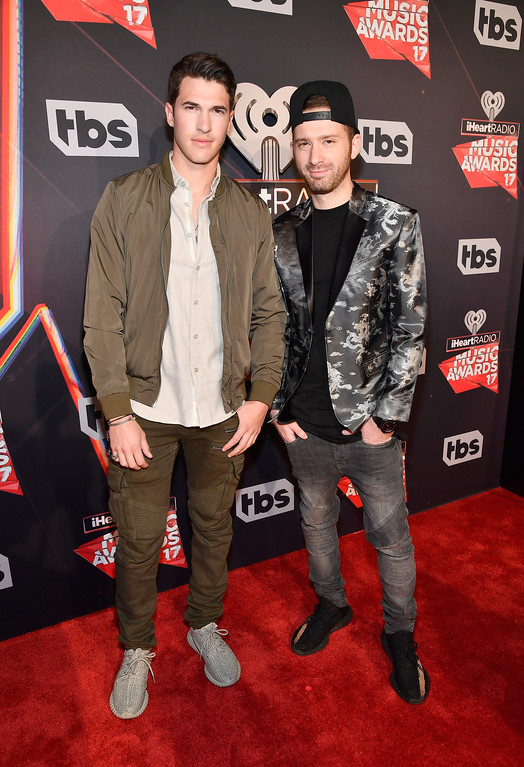 . INGLEWOOD, CA - MARCH 05:  Musicians Cal Shapiro (L) and Rob Resnick of Timeflies attend the 2017 iHeartRadio Music Awards which broadcast live on Turner\'s TBS, TNT, and truTV at The Forum on March 5, 2017 in Inglewood, California.  (Photo by Frazer Harrison/Getty Images for iHeartMedia)