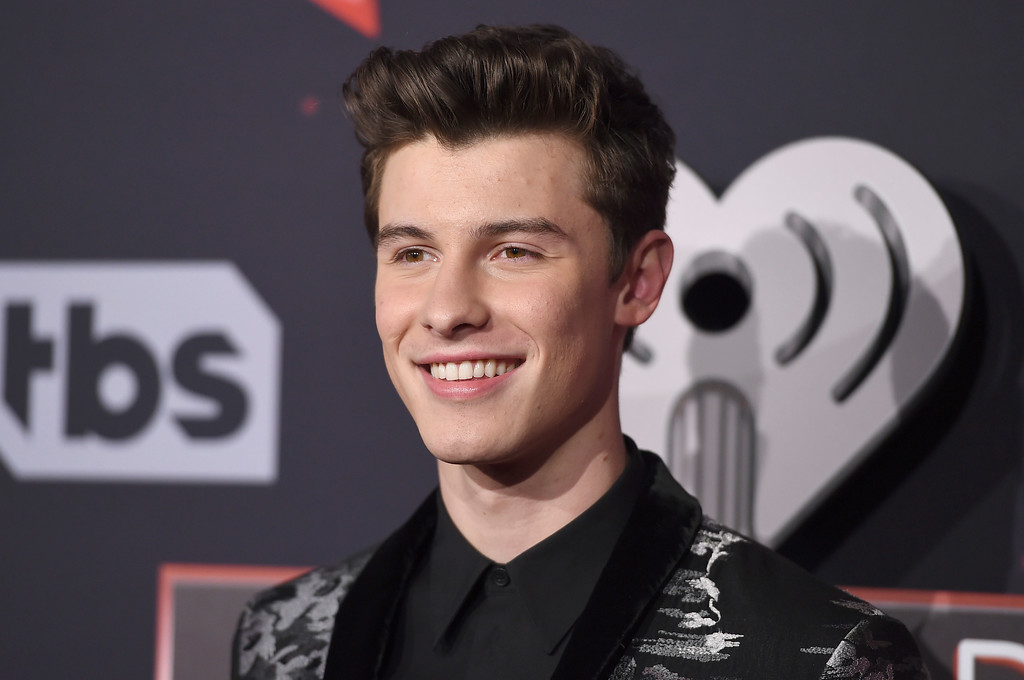 . Shawn Mendes arrives at the iHeartRadio Music Awards at the Forum on Sunday, March 5, 2017, in Inglewood, Calif. (Photo by Jordan Strauss/Invision/AP)