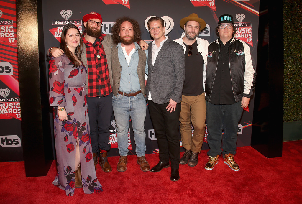 . INGLEWOOD, CA - MARCH 05:  Music group the Strumbellas attend the 2017 iHeartRadio Music Awards which broadcast live on Turner\'s TBS, TNT, and truTV at The Forum on March 5, 2017 in Inglewood, California.  (Photo by Jesse Grant/Getty Images for iHeartMedia)