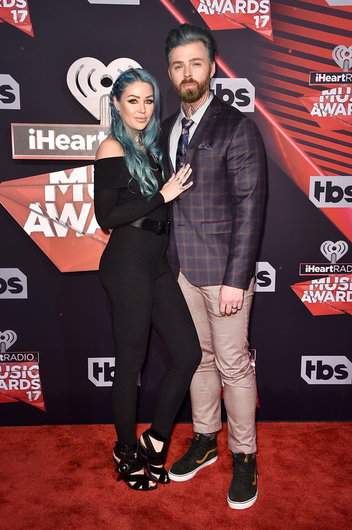 . INGLEWOOD, CA - MARCH 05:  Internet personality Kristen Leanne (L) and Ryan Morgan attend the 2017 iHeartRadio Music Awards which broadcast live on Turner\'s TBS, TNT, and truTV at The Forum on March 5, 2017 in Inglewood, California.  (Photo by Alberto E. Rodriguez/Getty Images)