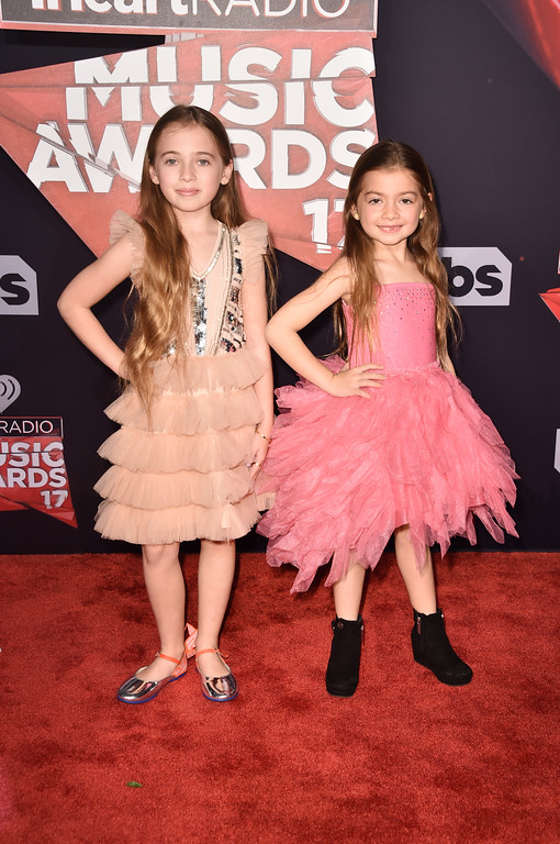 . INGLEWOOD, CA - MARCH 05:  Actors Sofia Jellen (L) and Olivia Jellen attend the 2017 iHeartRadio Music Awards which broadcast live on Turner\'s TBS, TNT, and truTV at The Forum on March 5, 2017 in Inglewood, California.  (Photo by Alberto E. Rodriguez/Getty Images)