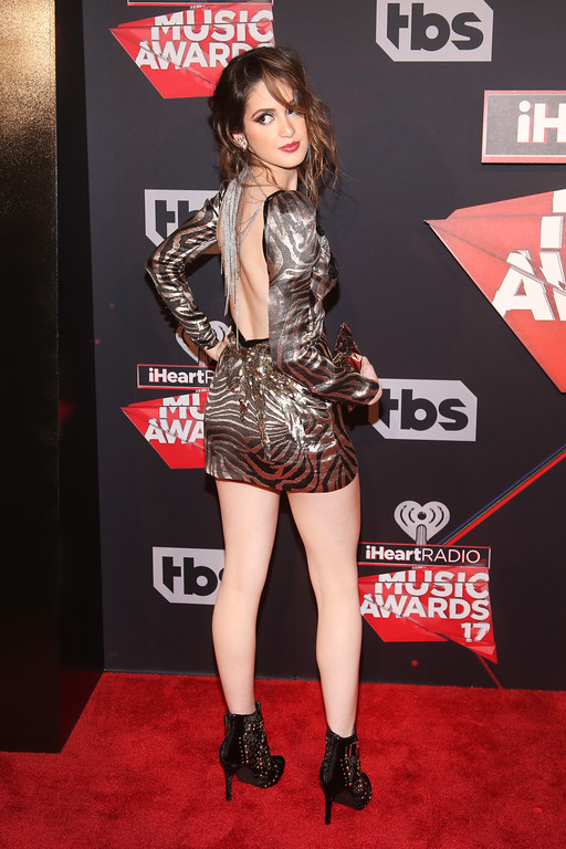 . INGLEWOOD, CA - MARCH 05:  Actor Laura Marano attends the 2017 iHeartRadio Music Awards which broadcast live on Turner\'s TBS, TNT, and truTV at The Forum on March 5, 2017 in Inglewood, California.  (Photo by Jesse Grant/Getty Images for iHeartMedia)