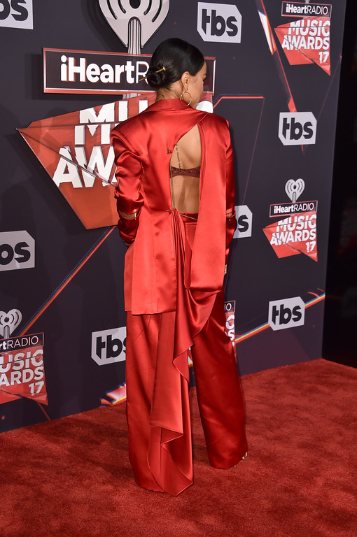 . INGLEWOOD, CA - MARCH 05:  TV personality Karrueche Tran attends the 2017 iHeartRadio Music Awards which broadcast live on Turner\'s TBS, TNT, and truTV at The Forum on March 5, 2017 in Inglewood, California.  (Photo by Alberto E. Rodriguez/Getty Images)