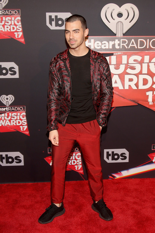 . INGLEWOOD, CA - MARCH 05:  Singer Joe Jonas attends the 2017 iHeartRadio Music Awards which broadcast live on Turner\'s TBS, TNT, and truTV at The Forum on March 5, 2017 in Inglewood, California.  (Photo by Jesse Grant/Getty Images for iHeartMedia)