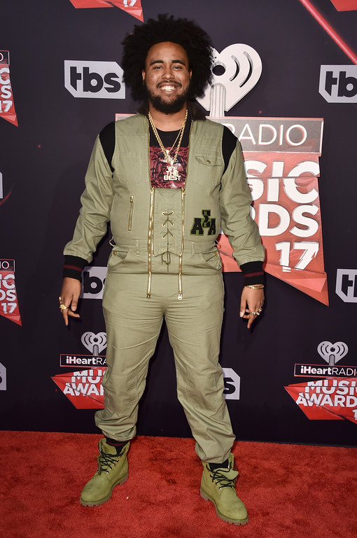 . INGLEWOOD, CA - MARCH 05:  Recording artist Kent Jones attends the 2017 iHeartRadio Music Awards which broadcast live on Turner\'s TBS, TNT, and truTV at The Forum on March 5, 2017 in Inglewood, California.  (Photo by Alberto E. Rodriguez/Getty Images)