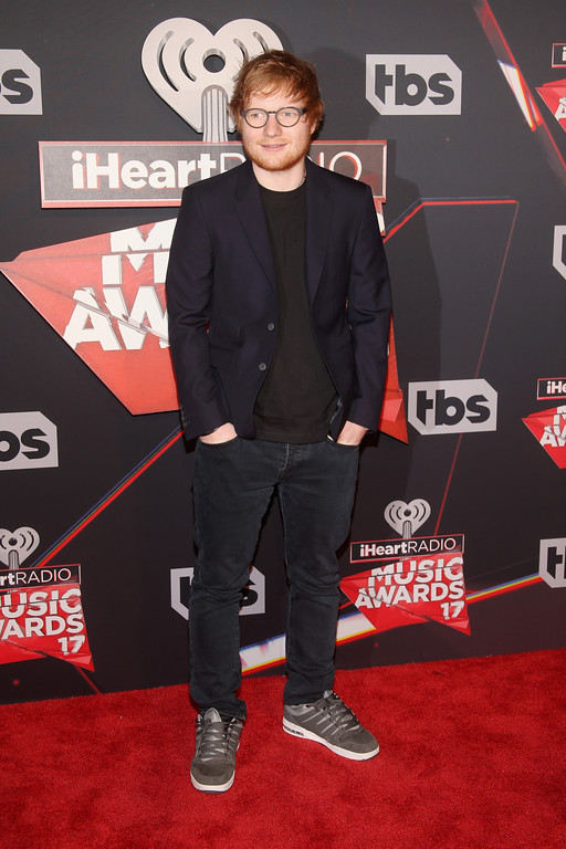 . INGLEWOOD, CA - MARCH 05:  Singer Ed Sheeran attends the 2017 iHeartRadio Music Awards which broadcast live on Turner\'s TBS, TNT, and truTV at The Forum on March 5, 2017 in Inglewood, California.  (Photo by Jesse Grant/Getty Images for iHeartMedia)