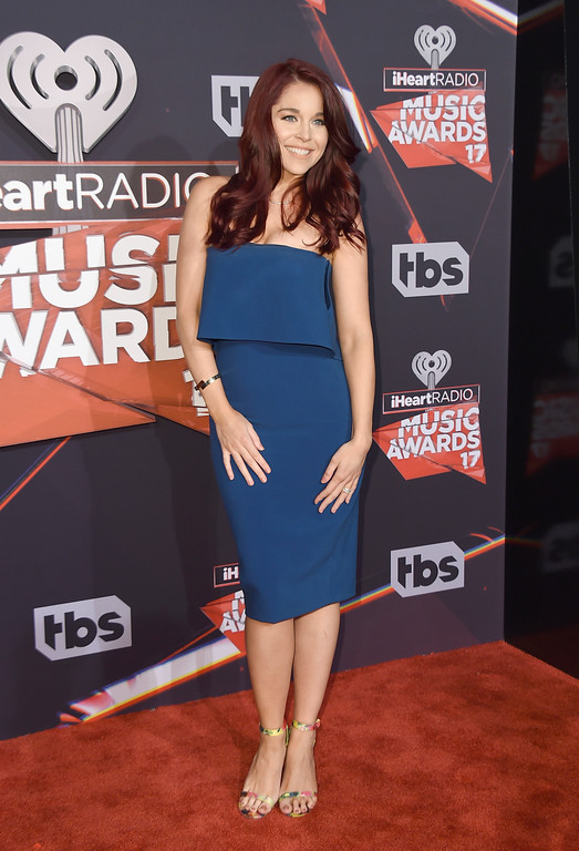. Erin Robinson arrives at the iHeartRadio Music Awards at the Forum on Sunday, March 5, 2017, in Inglewood, Calif. (Photo by Jordan Strauss/Invision/AP)