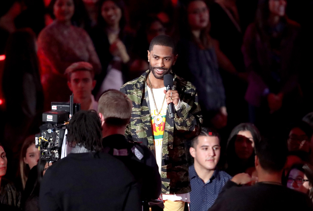 . INGLEWOOD, CA - MARCH 05: Rapper Big Sean speaks onstage at the 2017 iHeartRadio Music Awards which broadcast live on Turner\'s TBS, TNT, and truTV at The Forum on March 5, 2017 in Inglewood, California.  (Photo by Rich Polk/Getty Images for iHeartMedia)