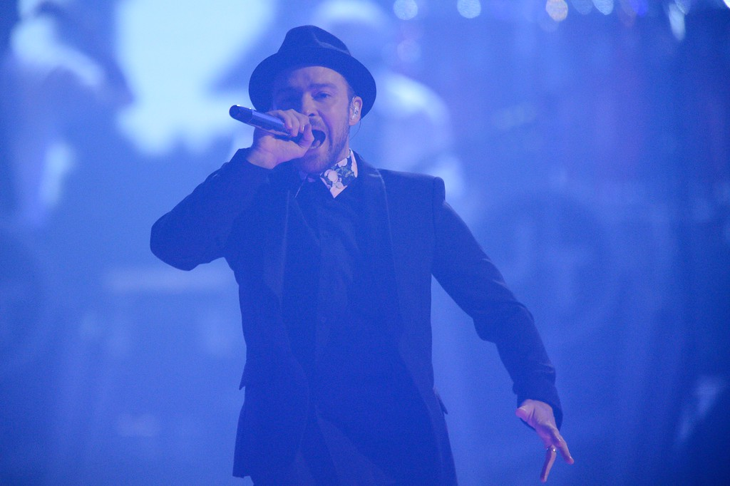 . Justin Timberlake performs at IHeartRadio Music Festival, day 2, Saturday, Sept. 21, 2013 in Las Vegas, NV. (Photo by Al Powers/Powers Imagery/Invision /AP)