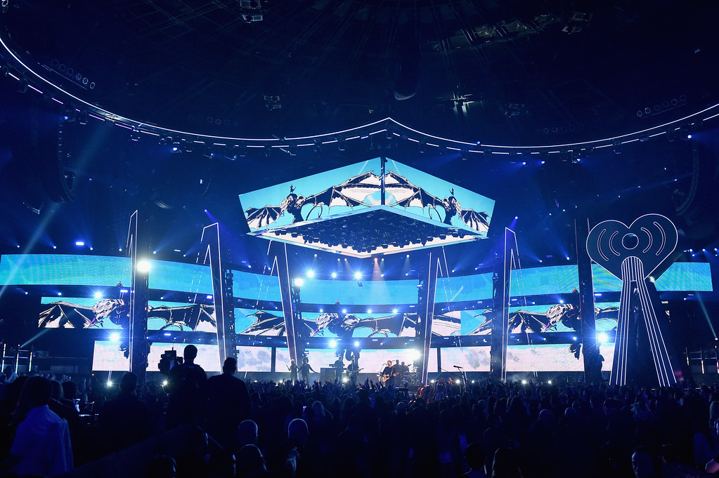 . INGLEWOOD, CA - MARCH 05:  General view of stage at the 2017 iHeartRadio Music Awards which broadcast live on Turner\'s TBS, TNT, and truTV at The Forum on March 5, 2017 in Inglewood, California.  (Photo by Kevin Winter/Getty Images for iHeartMedia)