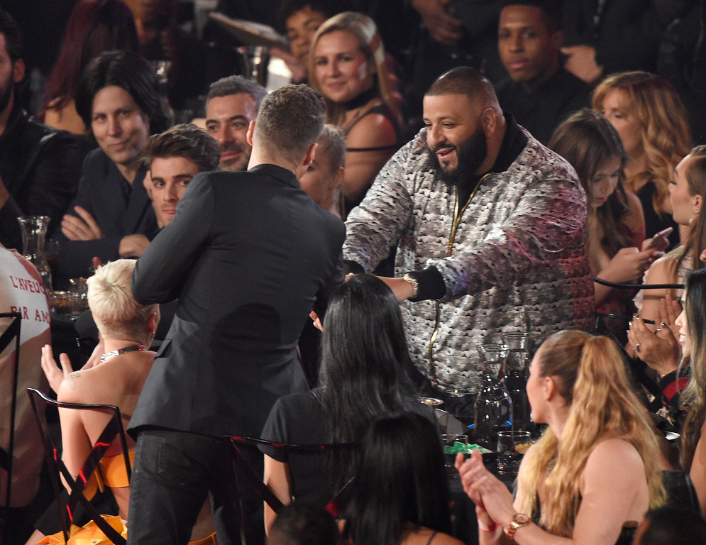 ". Justin Timberlake wins the award for song of the year for ""Can\'t Stop The Feeling!\"" at the iHeartRadio Music Awards at the Forum on Sunday, March 5, 2017, in Inglewood, Calif. (Photo by Chris Pizzello/Invision/AP)"