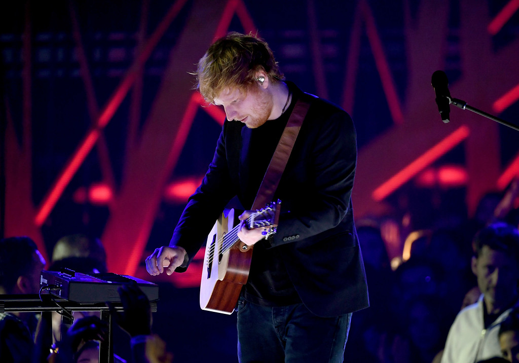 . INGLEWOOD, CA - MARCH 05:  Musician Ed Sheeran performs onstage at the 2017 iHeartRadio Music Awards which broadcast live on Turner\'s TBS, TNT, and truTV at The Forum on March 5, 2017 in Inglewood, California.  (Photo by Kevin Winter/Getty Images for iHeartMedia)
