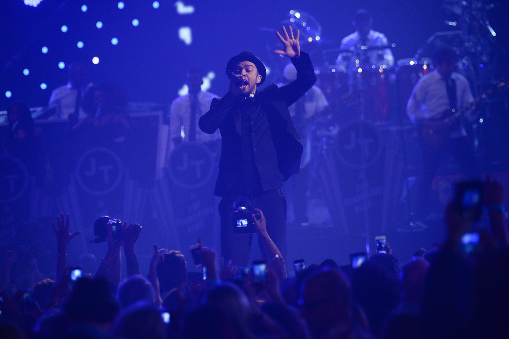 . Justin Timberlake performs at IHeartRadio Music Festival, day 2, Saturday, September, 21, 2013 in Las Vegas, NV. (Photo by Al Powers/Powers Imagery/Invision /AP)