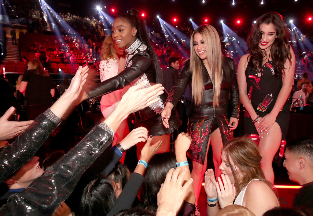 . INGLEWOOD, CA - MARCH 05:  (L-R) Singers Dinah Jane, Lauren Jauregui, Ally Brooke, and Normani Kordei of music group Fifth Harmony attend the 2017 iHeartRadio Music Awards which broadcast live on Turner\'s TBS, TNT, and truTV at The Forum on March 5, 2017 in Inglewood, California.  (Photo by Christopher Polk/Getty Images for iHeartMedia)
