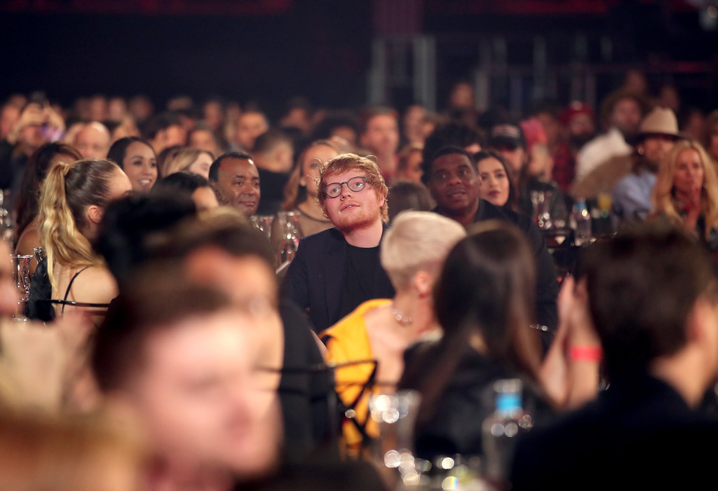. INGLEWOOD, CA - MARCH 05:  Musician Ed Sheeran attends the 2017 iHeartRadio Music Awards which broadcast live on Turner\'s TBS, TNT, and truTV at The Forum on March 5, 2017 in Inglewood, California.  (Photo by Christopher Polk/Getty Images for iHeartMedia)