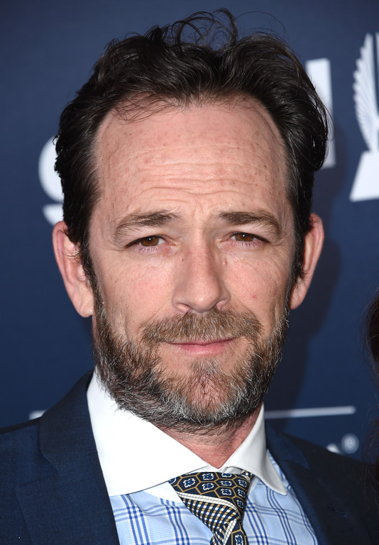 . Luke Perry attends the 28th annual GLAAD Media awards at the Beverly Hilton hotel in Beverly Hills, California,  April 1, 2017. (CHRIS DELMAS/AFP/Getty Images)