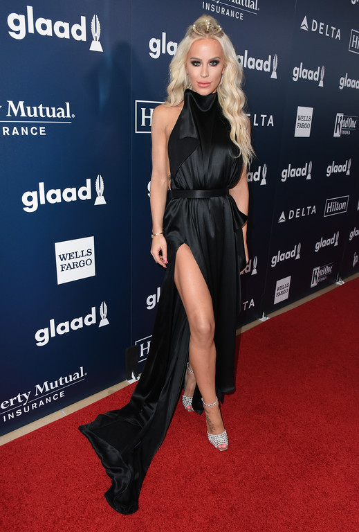 . BEVERLY HILLS, CA - APRIL 01: Gigi Gorgeous attends the 28th Annual GLAAD Media Awards in LA at The Beverly Hilton Hotel on April 1, 2017 in Beverly Hills, California.  (Photo by Vivien Killilea/Getty Images for GLAAD)
