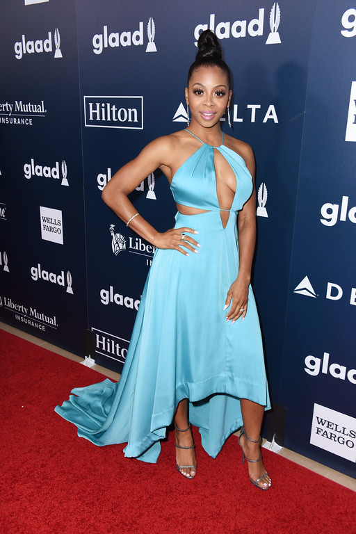 . BEVERLY HILLS, CA - APRIL 01:  Actor Bresha Webb attends the 28th Annual GLAAD Media Awards in LA at The Beverly Hilton Hotel on April 1, 2017 in Beverly Hills, California.  (Photo by Vivien Killilea/Getty Images for GLAAD)
