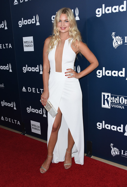 . Jennifer Akerman attends the 28th annual GLAAD Media awards at the Beverly Hilton hotel in Beverly Hills, California,  April 1, 2017. (CHRIS DELMAS/AFP/Getty Images)