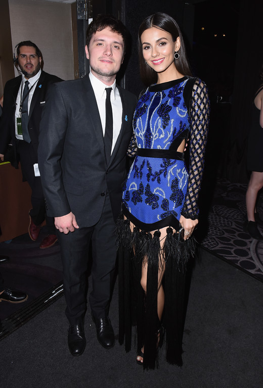 . BEVERLY HILLS, CA - APRIL 01:  Actors Josh Hutcherson (L) and Victoria Justice attend 28th Annual GLAAD Media Awards in LA at The Beverly Hilton Hotel on April 1, 2017 in Beverly Hills, California.  (Photo by Vivien Killilea/Getty Images for GLAAD)