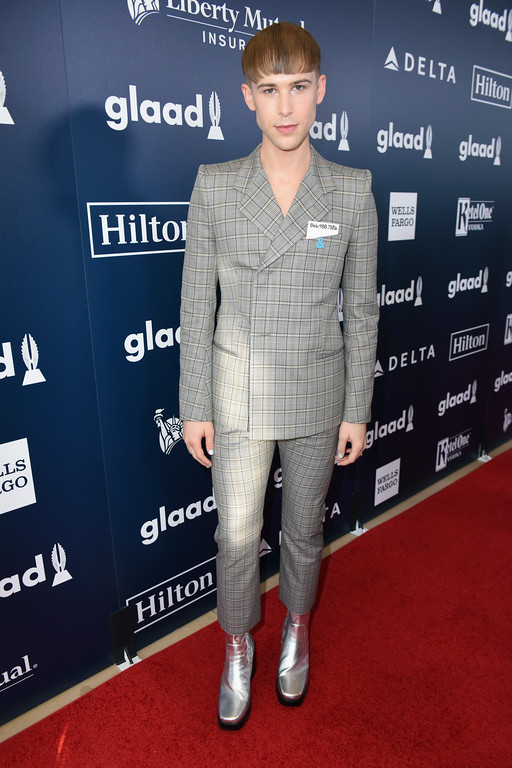 . BEVERLY HILLS, CA - APRIL 01:  Actor Tommy Dorfman attends the 28th Annual GLAAD Media Awards in LA at The Beverly Hilton Hotel on April 1, 2017 in Beverly Hills, California.  (Photo by Vivien Killilea/Getty Images for GLAAD)