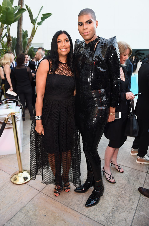 . BEVERLY HILLS, CA - APRIL 01:  Cookie Johnson (L) and EJ Johnson attend the 28th Annual GLAAD Media Awards in LA at The Beverly Hilton Hotel on April 1, 2017 in Beverly Hills, California.  (Photo by Emma McIntyre/Getty Images for GLAAD)