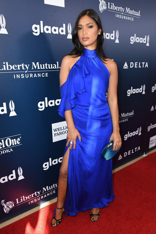 . BEVERLY HILLS, CA - APRIL 01: Model Geena Rocero  attends the 28th Annual GLAAD Media Awards in LA at The Beverly Hilton Hotel on April 1, 2017 in Beverly Hills, California.  (Photo by Vivien Killilea/Getty Images for GLAAD)