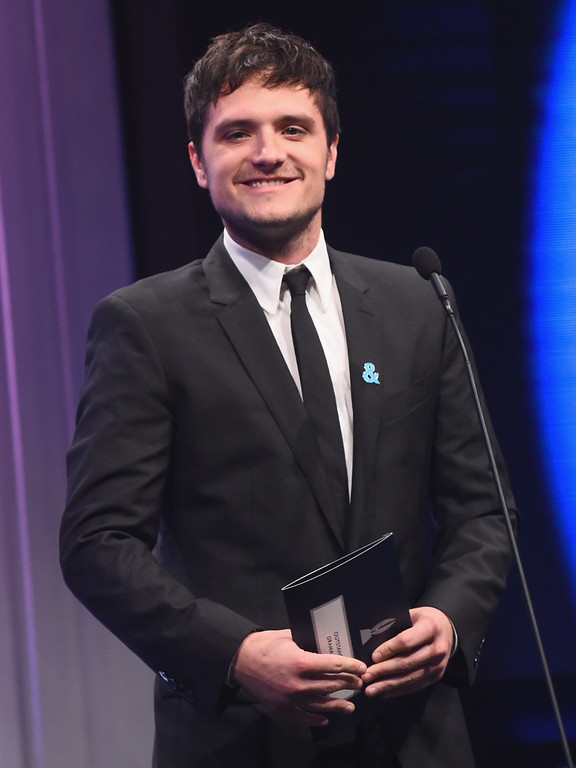 . BEVERLY HILLS, CA - APRIL 01:  Actor Josh Hutcherson speaks onstage during the 28th Annual GLAAD Media Awards in LA at The Beverly Hilton Hotel on April 1, 2017 in Beverly Hills, California.  (Photo by Emma McIntyre/Getty Images for GLAAD)