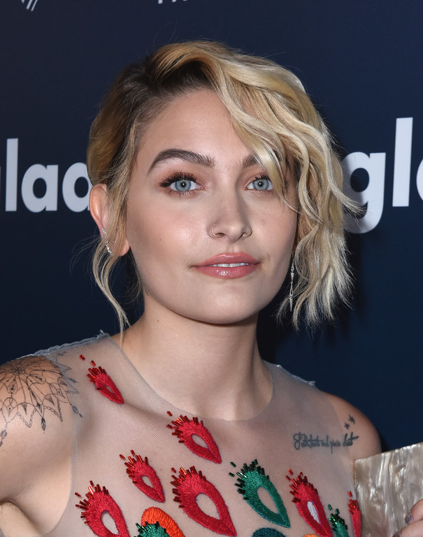 . BEVERLY HILLS, CA - APRIL 01:  Paris Jackson attends the 28th Annual GLAAD Media Awards in LA at The Beverly Hilton Hotel on April 1, 2017 in Beverly Hills, California.  (Photo by Vivien Killilea/Getty Images for GLAAD)