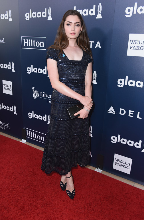 . BEVERLY HILLS, CA - APRIL 01:  Actor Emily Robinson attends the 28th Annual GLAAD Media Awards in LA at The Beverly Hilton Hotel on April 1, 2017 in Beverly Hills, California.  (Photo by Vivien Killilea/Getty Images for GLAAD)