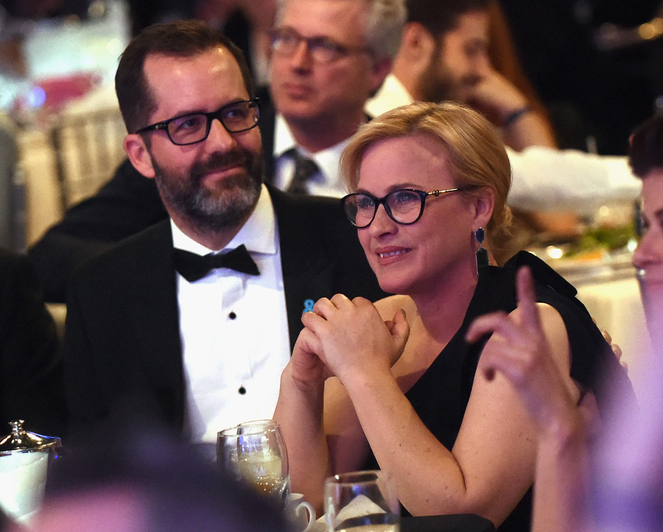 . BEVERLY HILLS, CA - APRIL 01: Artist Eric White (L) and Vanguard Award recipient Patricia Arquette attend 28th Annual GLAAD Media Awards in LA at The Beverly Hilton Hotel on April 1, 2017 in Beverly Hills, California.  (Photo by Emma McIntyre/Getty Images for GLAAD)