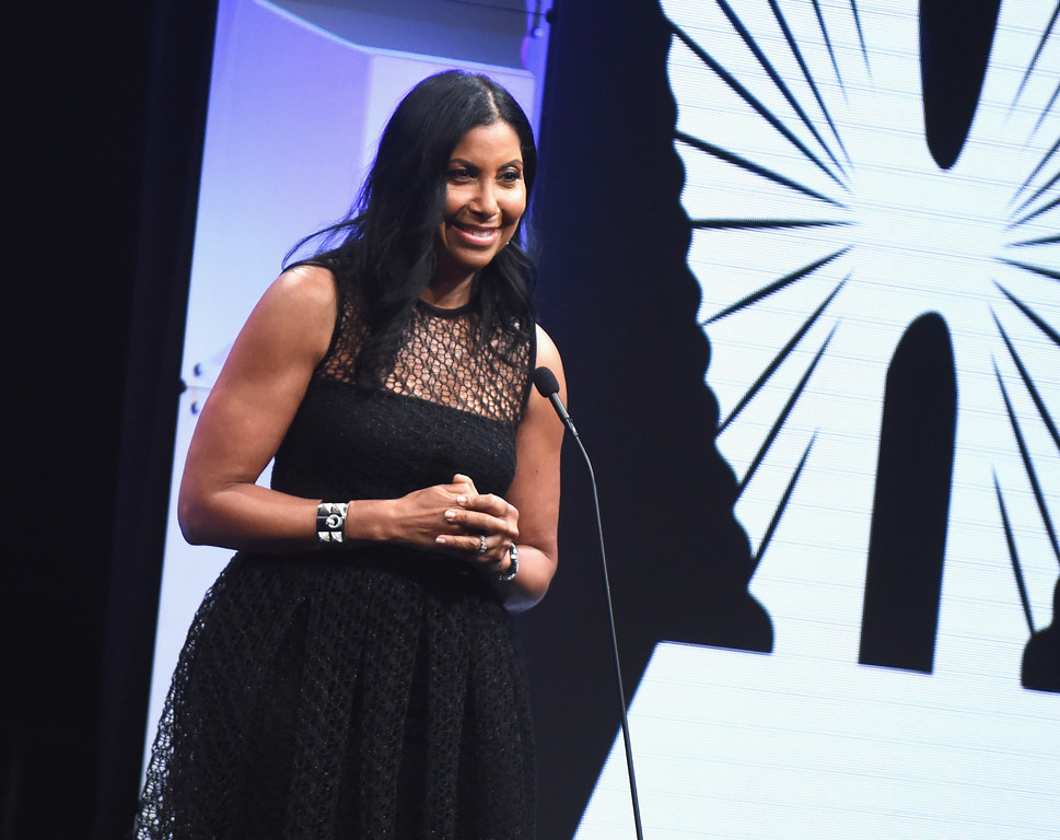 . BEVERLY HILLS, CA - APRIL 01:  Cookie Johnson speaks onstage during the 28th Annual GLAAD Media Awards in LA at The Beverly Hilton Hotel on April 1, 2017 in Beverly Hills, California.  (Photo by Emma McIntyre/Getty Images for GLAAD)