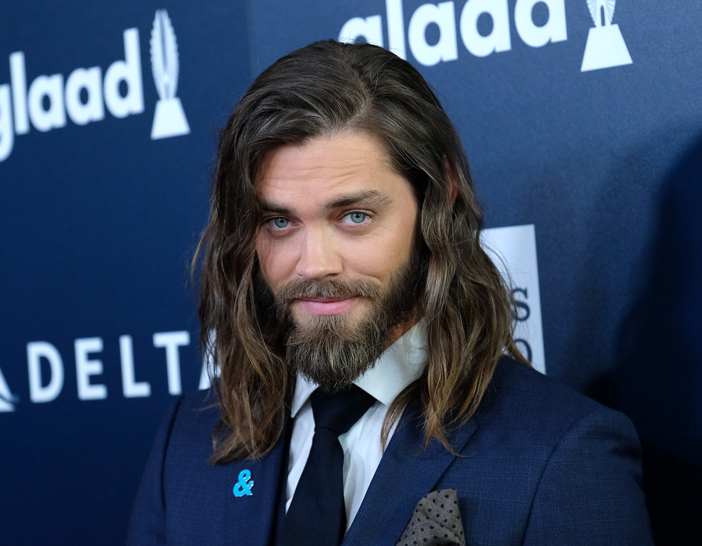 . Tom Payne attends the 28th annual GLAAD Media awards at the Beverly Hilton hotel in Beverly Hills, California,  April 1, 2017. (CHRIS DELMAS/AFP/Getty Images)