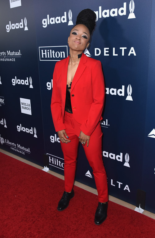 . BEVERLY HILLS, CA - APRIL 01:  Nneka Onuorah attends the 28th Annual GLAAD Media Awards in LA at The Beverly Hilton Hotel on April 1, 2017 in Beverly Hills, California.  (Photo by Vivien Killilea/Getty Images for GLAAD)