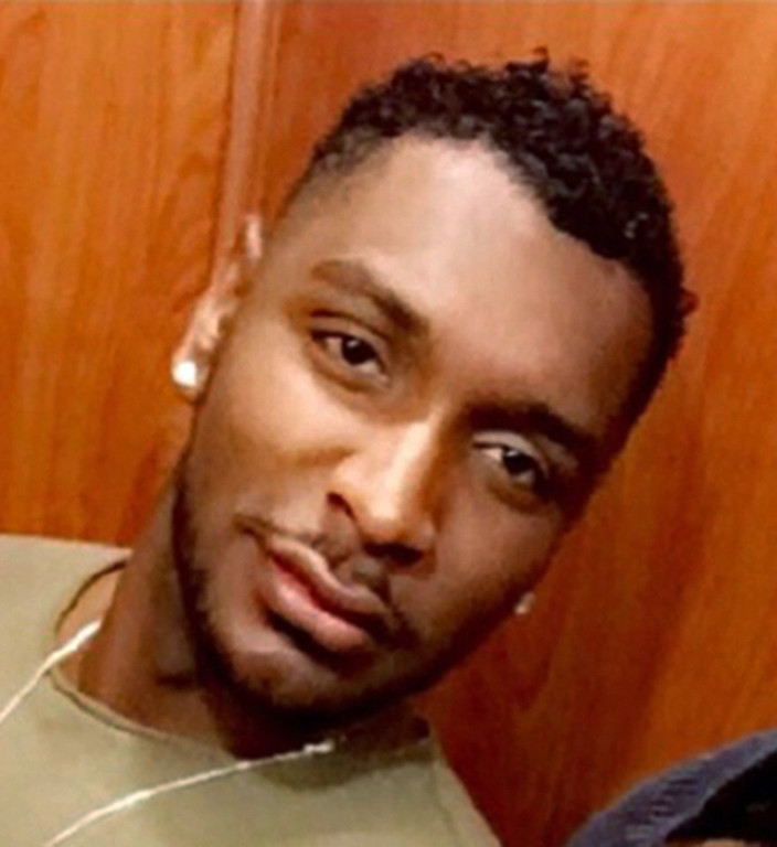 . This March 2016 photo made available by Demetrice Naulings shows his friend Eddie Jamoldroy Justice, 30, who was killed Sunday, June 12, when a gunman opened fire inside a gay nightclub in Orlando, Fla. Justice sent a series of text messages to his mother from a bathroom at the Pulse nightclub before he was killed. (Courtesy of Demetrice Naulings via AP)