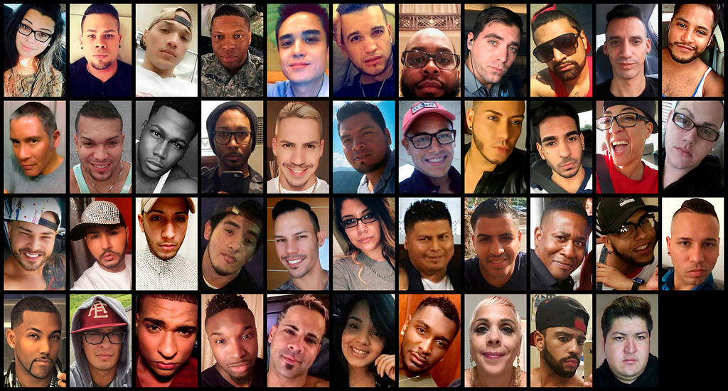 . These photo combination shows victims of the mass shooting that occurred early Sunday, June 12, 2016, at the Pulse nightclub in Orlando, Fla. Top row from left are: Amanda Alvear, Angel L. Candelario-Padro, Anthony Luis Laureano Disla, Antonio Davon Brown, Christopher Leinonen, Christopher Joseph Sanfeliz, Darryl Roman Burt II, Edward Sotomayor Jr., Enrique L. Rios Jr., Eric Ivan Ortiz-Rivera and Frank Hernandez. Second row from left are: Franky Jimmy De Jesus Velazquez, Gilberto Ramon Silva Menendez, Jason Benjamin Josaphat, Javier Jorge-Reyes, Jean Carlos Mendez Perez, Joel Rayon Paniagua, Jonathan Antonio Camuy Vega, Juan P. Rivera Velazquez, Juan Ramon Guerrero, Kimberly Morris and Leroy Valentin Fernandez. Third row from left are: Luis D. Conde, Luis Daniel Wilson-Leon, Luis Omar Ocasio-Capo, Luis S. Vielma, Martin Benitez Torres, Mercedez Marisol Flores, Miguel Angel Honorato, Oscar A Aracena-Montero, Paul Terrell Henry, Peter O. Gonzalez-Cruz and Rodolfo Ayala-Ayala. Bottom row from left are: Shane Evan Tomlinson, Simon Adrian Carrillo Fernandez, Stanley Almodovar III, Tevin Eugene Crosby, Xavier Emmanuel Serrano Rosado, Yilmary Rodriguez Sulivan, Eddie Jamoldroy Justice, Brenda Lee Marquez McCool, Geraldo Ortiz-Jimenez and Juan Chavez Martinez. (AP Photo)