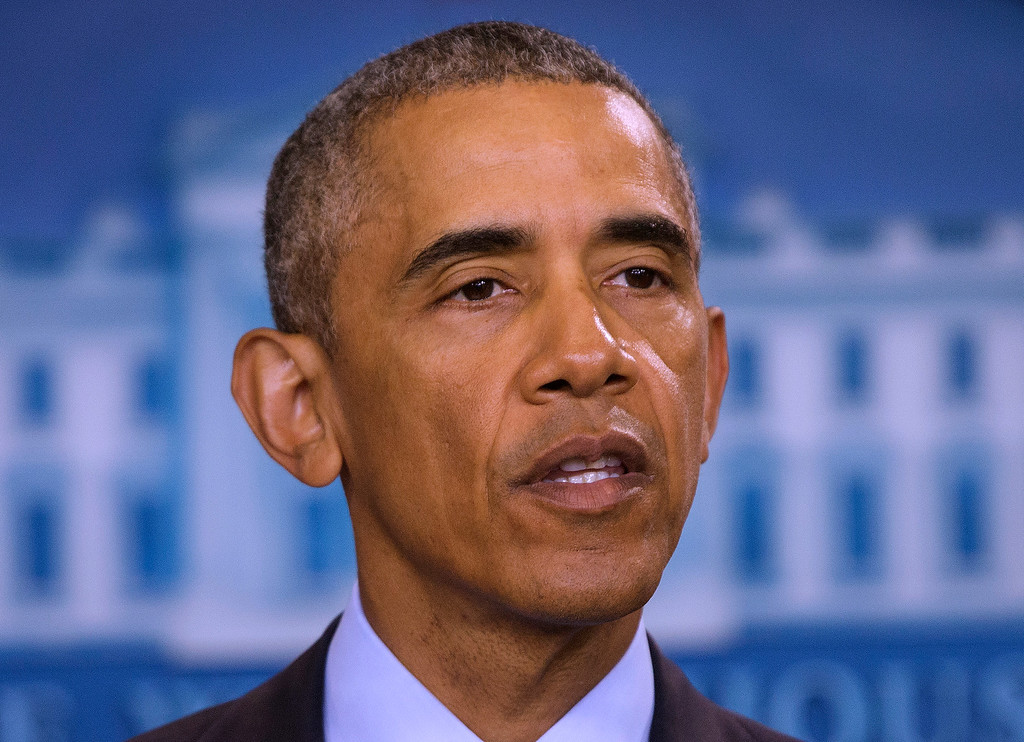 . President Barack Obama speaks about the massacre at a Orlando nightclub during a news conference at the White House in Washington, Sunday, June 12, 2016. (AP Photo/Pablo Martinez Monsivais)