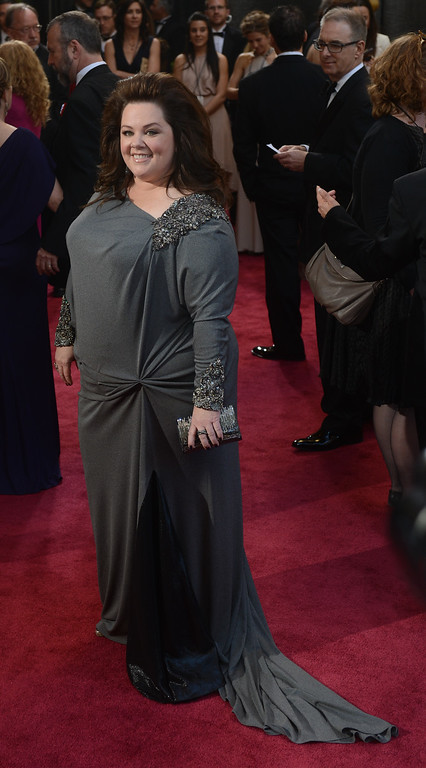 . Melissa McCarthy arrives at the 85th Academy Awards at the Dolby Theatre in Los Angeles, California on Sunday Feb. 24, 2013 ( Hans Gutknecht/Los Angeles Daily News)