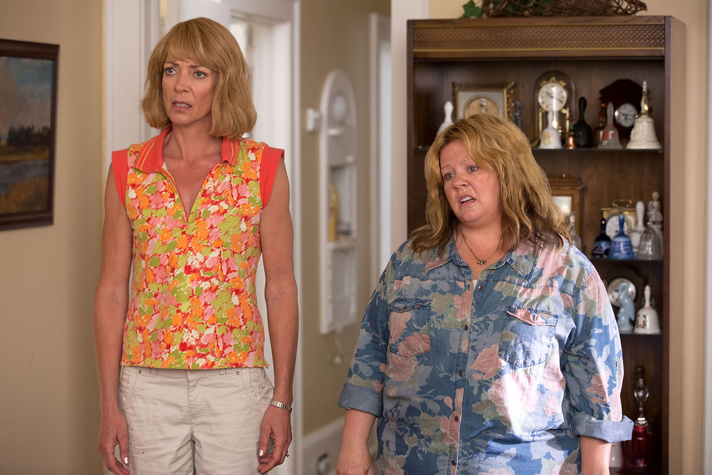 ". This image released by Warner Bros. Pictures shows Allison Janney, left, and Melissa McCarthy in a scene from ""Tammy.\"" (AP Photo/Warner Bros. Pictures, Michael Tackett)"
