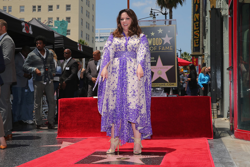 . Actress Melissa McCarthy is honored with a star on the Hollywood Walk Of Fame on May 19, 2015 in Hollywood, California.  (Photo by Mark Davis/Getty Images)
