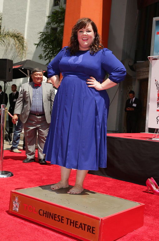 . Melissa McCarthy seen at a ceremony immortalizing Melissa McCarthy with a Hand and Footprint at TCL Chinese Theatre on Wednesday, July 02, 2014, in Hollywood, CA. (Photo by Eric Charbonneau/Invision for Warner Bros/AP Images)
