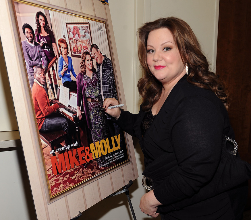 . Melissa McCarthy attends the Academy of Television Arts & Sciences Presents an Evening with �Mike & Molly� at the Academy of Television Arts & Sciences on March 8, 2012 in North Hollywood, California. (Photo by Frank Micelotta/PictureGroup) via AP IMAGES